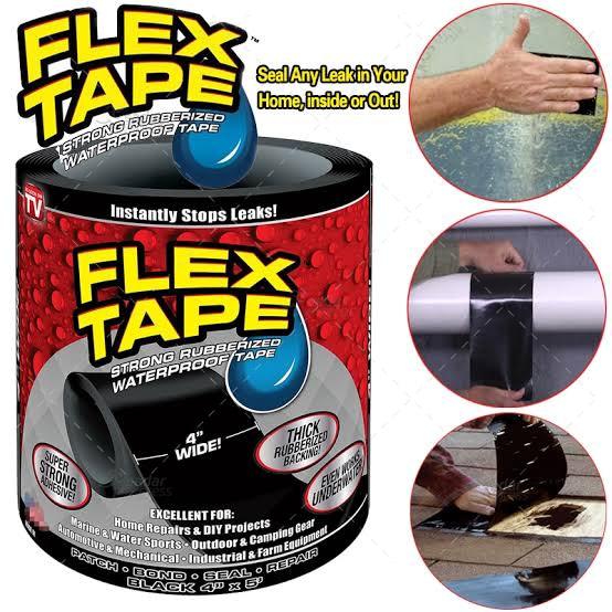 """Flex Tape Rubberized Waterproof Tape, 4"""" x 5'"""