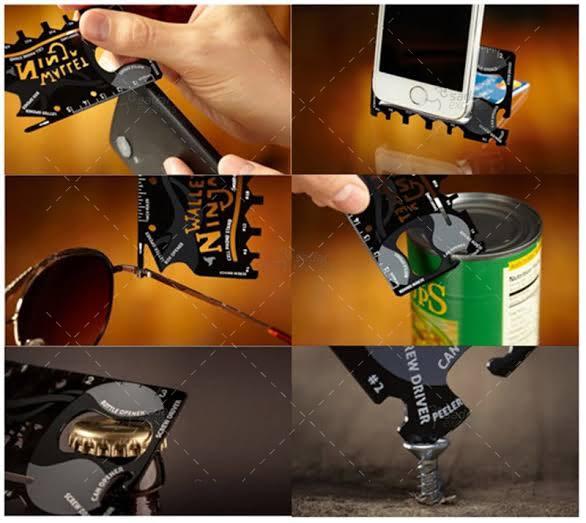 Wallet Ninja- 18 in 1 Credit Card Sized Multitool (#1 Best Selling in the World) (Black)