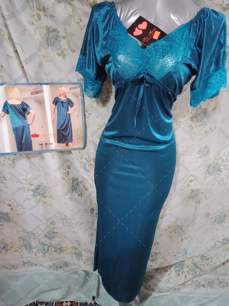 Two Hearts 1 Piece Silk Nightwear & Lingerie For Women & Girls JE101
