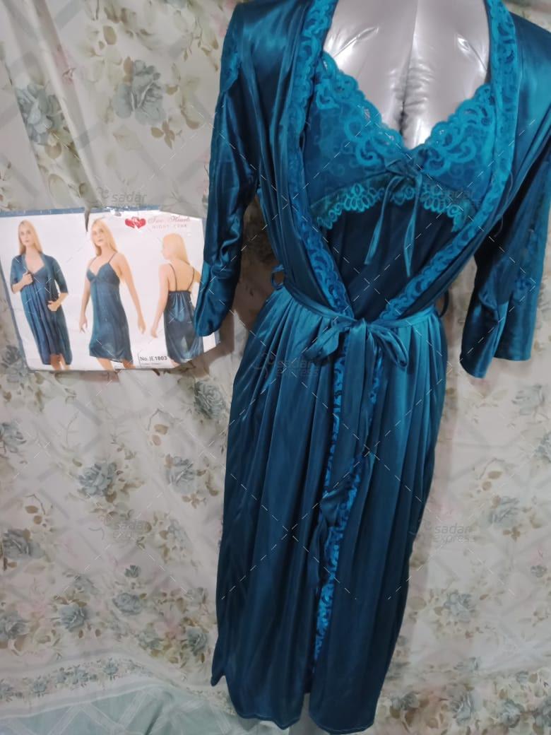 Sexy 2 Piece Silk Nightwear & Lingerie For Girls & Women 1803