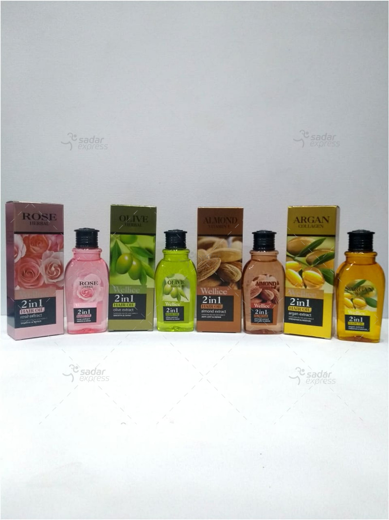 Wellice Rose,Olive,Almond,Argan Hair Oil