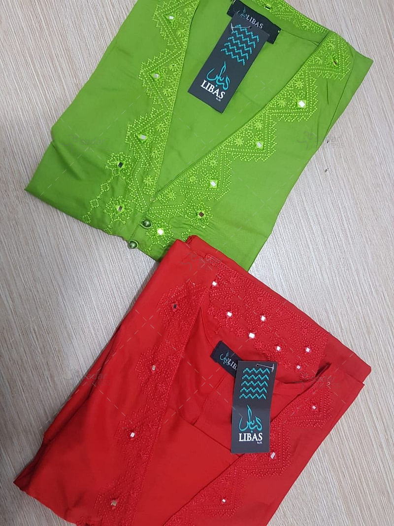 Computerized Embroidery Shirt Free size by Libas