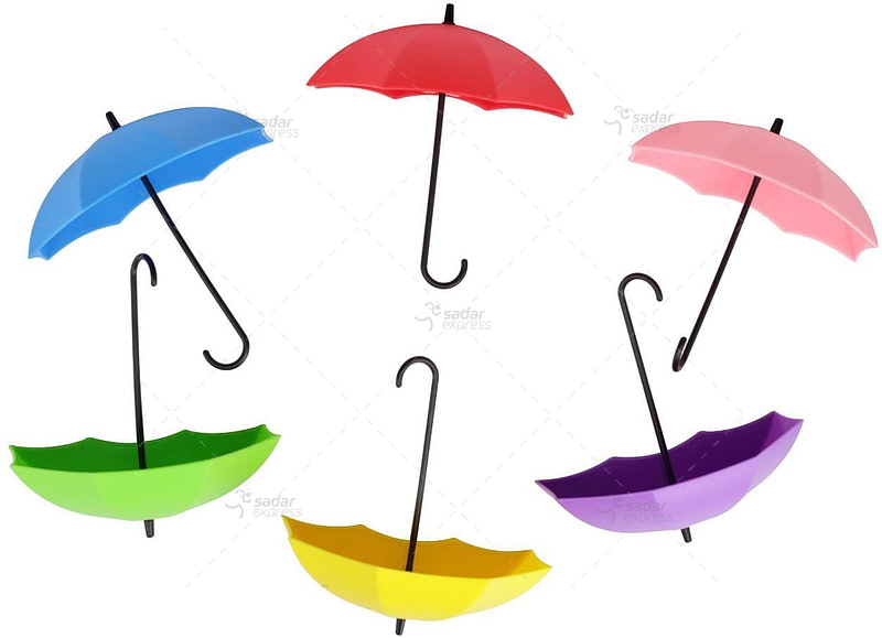 Colorful Umbrella Key Holder 3 pc set