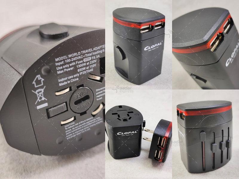 Travel Adaptor EU US Multi 2 USB detachable Universal High quality