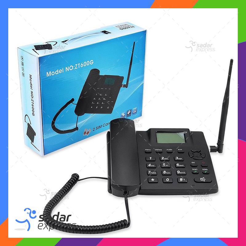 ZT600G Dual SIM GSM Wireless Telephone - Black