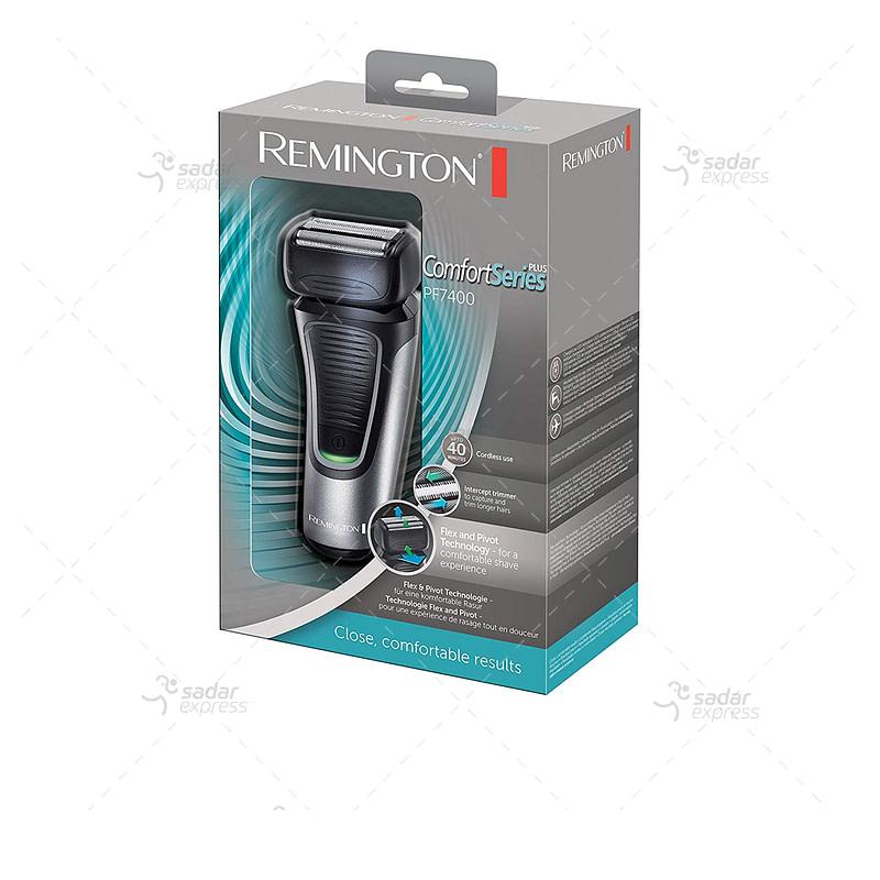 Remington PF7400 F4 Comfort Series Foil Shaver, Men's Electric Razor, Electric Shaver, Black