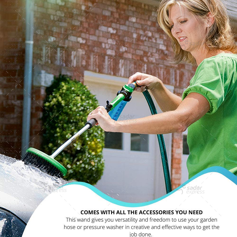 Brizer Garden Hose Sprayer for High Pressure Power Washer Wand WaterZoom – 30 Inch + 9 Inch Long Extendable Sprayer, Hose Nozzle, for Car Washer, Window Water Cleaner, Glass Cleaning Tool