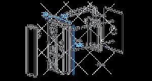set of 3 commax audio door phone dp-la01 1