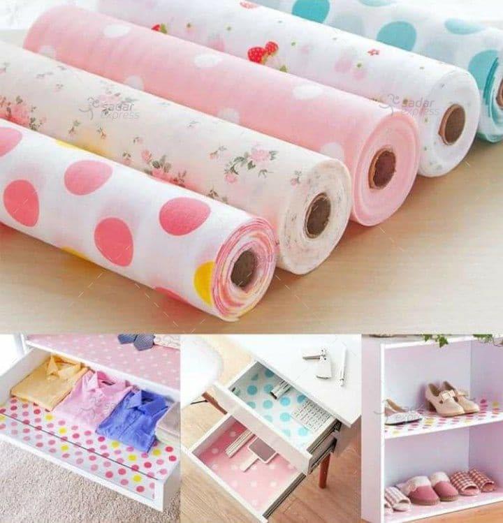 wardrobe moisture drawer pad waterproof non-slip paper kitchen cupboard 45cm x 2m 2