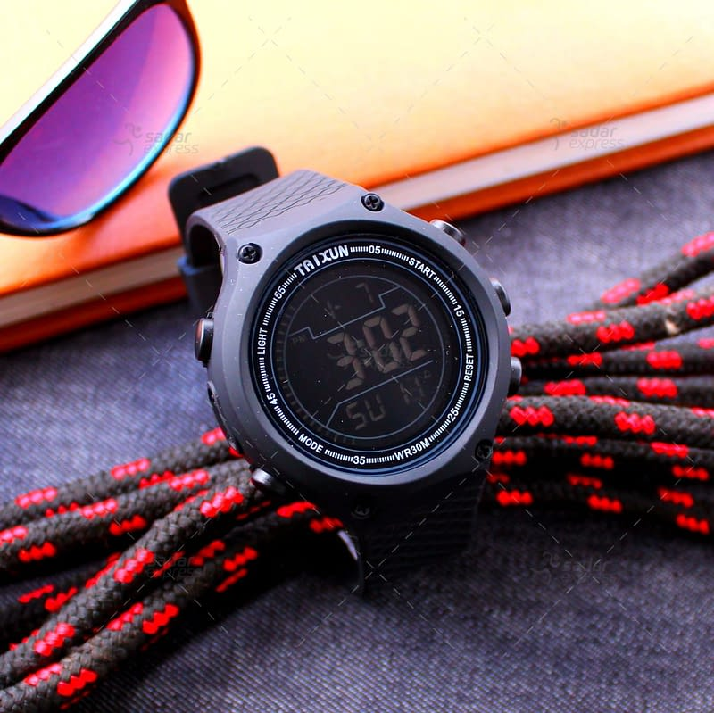 taixun digital watch water proof stop watch 3