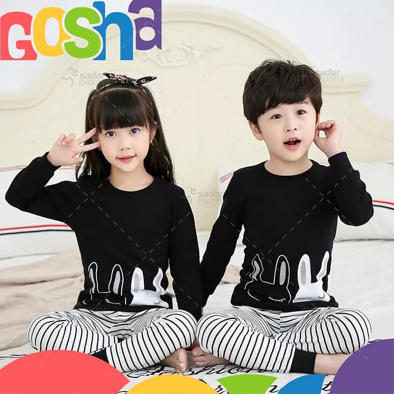 black white stripes kids nightwear sleepwear soft cotton night suits for boys & girls 1