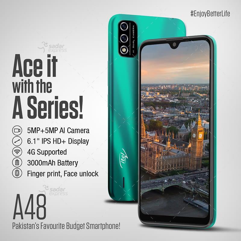 itel a48 2gb 32gb smart phone | emi 1