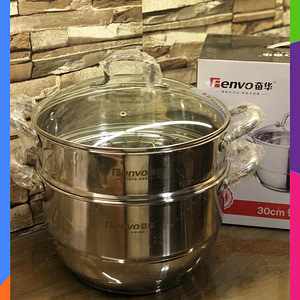 FENVO 30-CM Two Tiers Steam Cooker