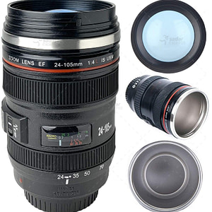 Camera Lens Coffee Mug With Lid, Photo Coffee Cup, Stainless Steel