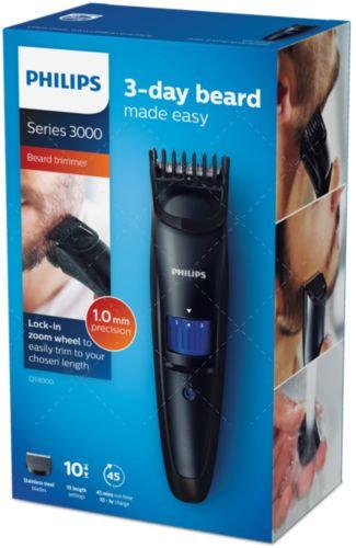 philips qt4000 - beard trimmer - black