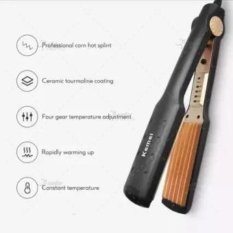 kemei km-472 - professional hair straightener crimper