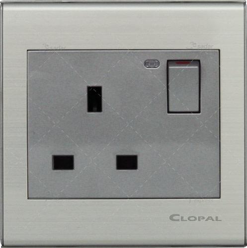 clopal switch board 13a flat pin socket elegant