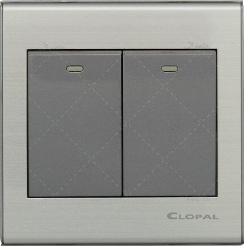 clopal switch board 2 gang 2 way elegant