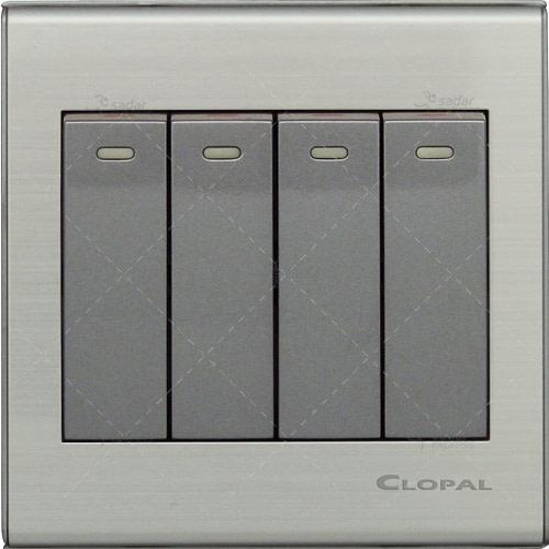 clopal 4 gang switch board elegant