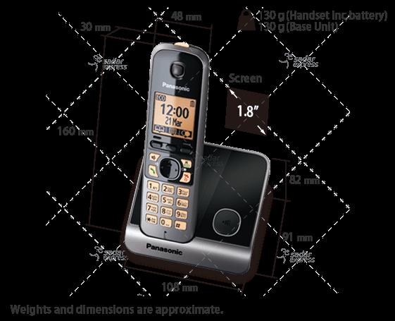 panasonic kx-tg6711 dect cordless telephone