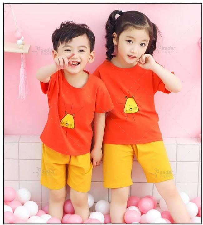boys & girls tshirt and short sleepwear for summer