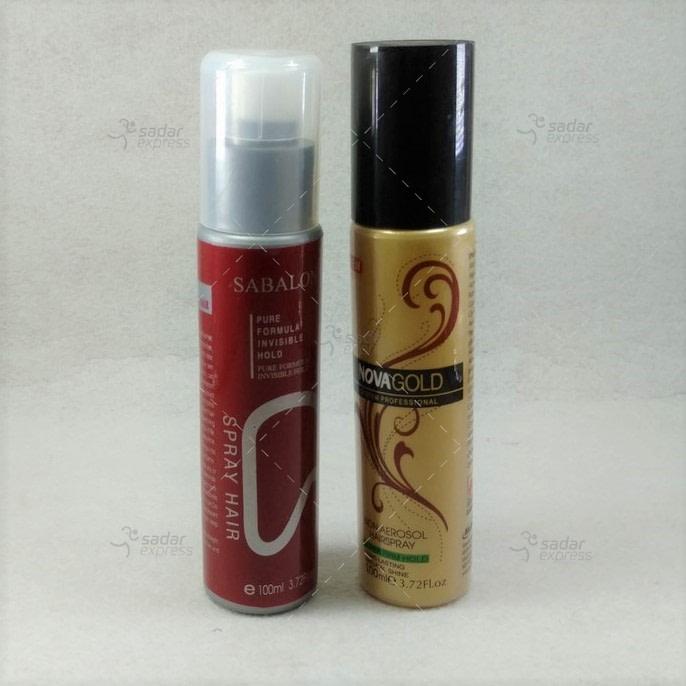 pack of 2 hair styling spray sabalon nova 100ml new plastic bottle