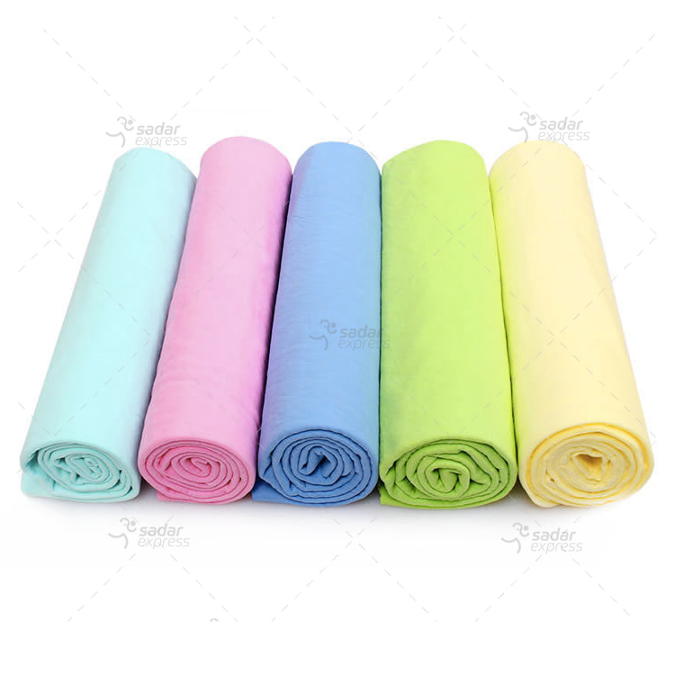 synthetic chamois clean cham cleaning cloth for cars and home