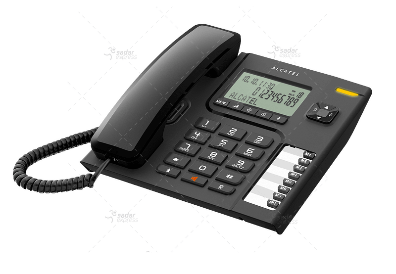 alcatel t76 desktop wired phone black white office home desk