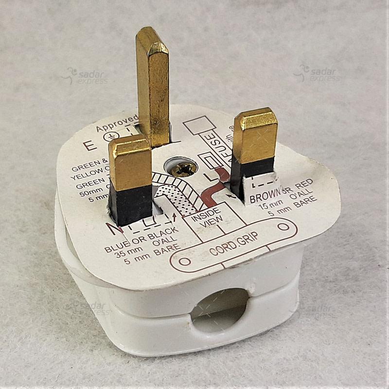 fused 3pin eu plug connector