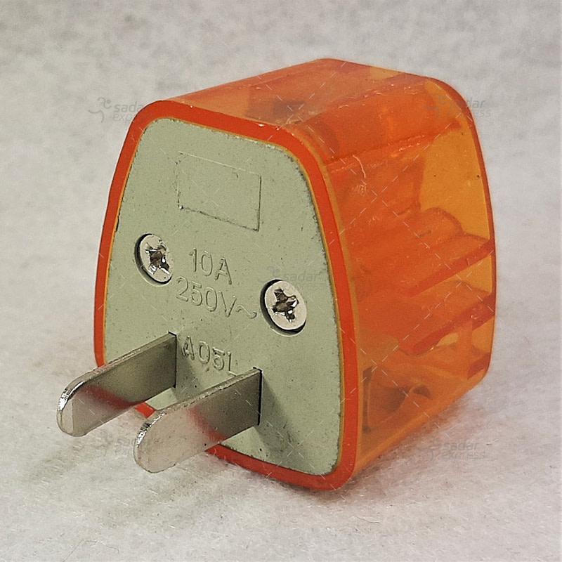 eu to 3pin converter orange