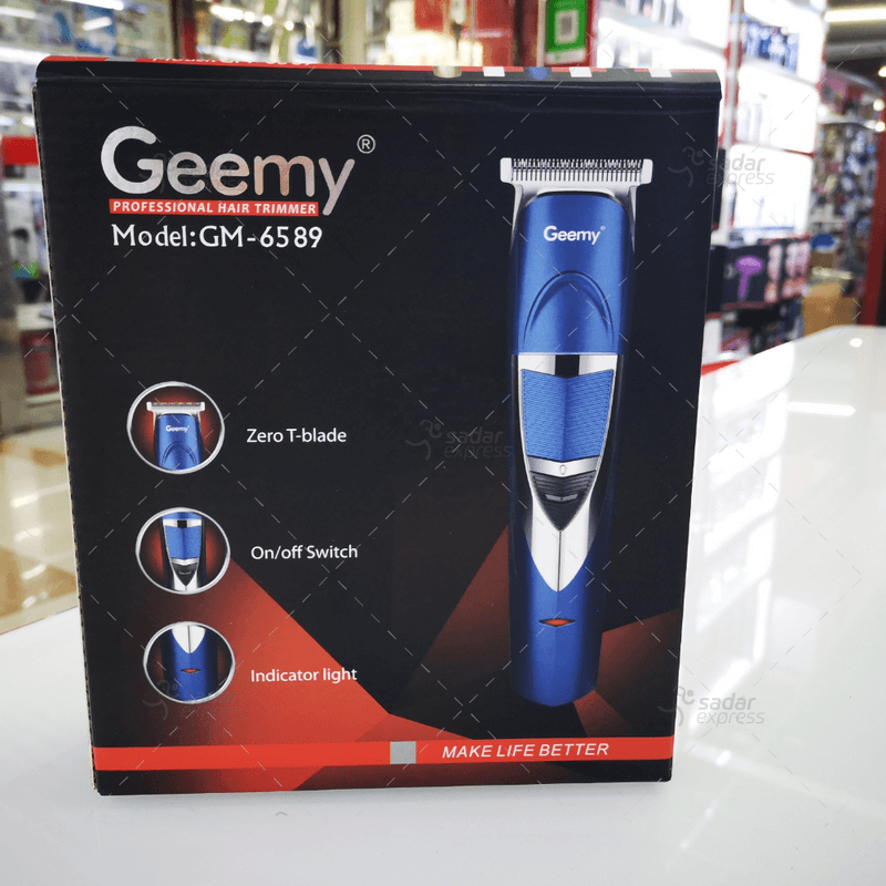 geemy gm-6589 zero adjustable professional rechargeable hair trimmer