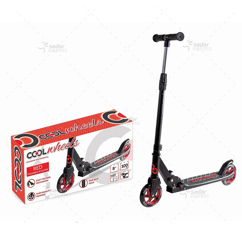 fr58376 cool wheels 8+ folding scooter (red)