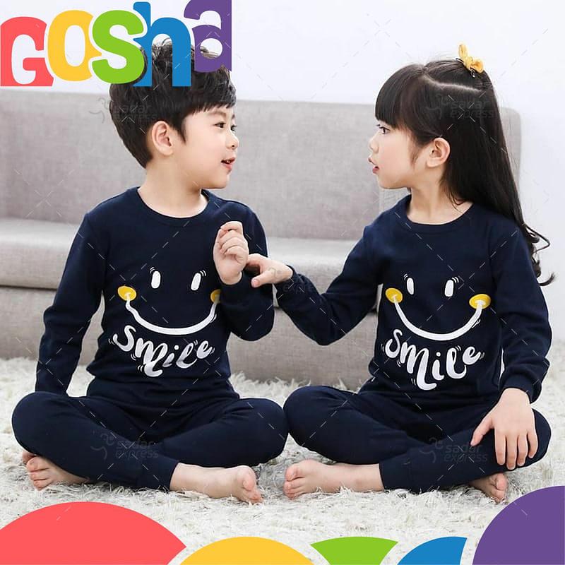 black smile kids nightwear sleepwear soft cotton night suits for boys & girls