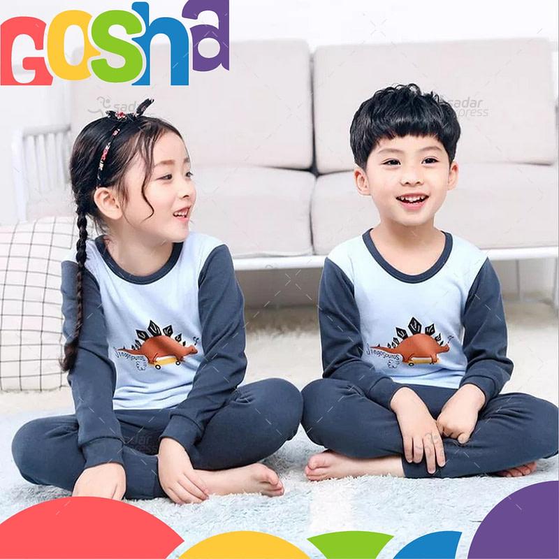 blue dino kids nightwear sleepwear soft cotton night suits for boys & girls