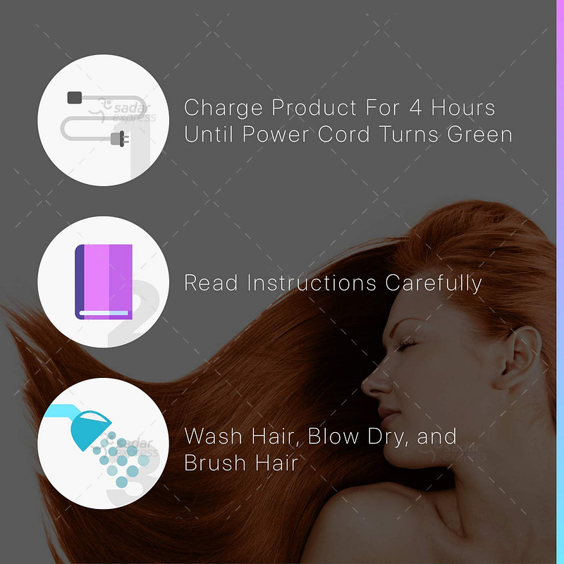 """split ender pro 2 - cordless split end hair trimmer - at-home beauty tool - for men and women - includes fixed 1/4"""" trim settings - includes hair accessories and carrying bag"""