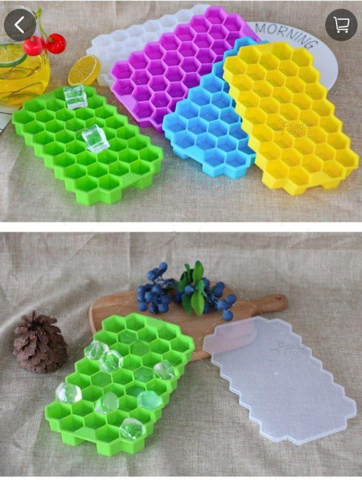 honey comb ice cube tray multi color
